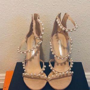 Pink pearl heels